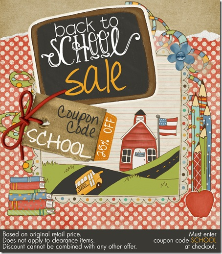 Back To School Sale - Save 25% off your entire order!