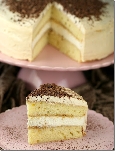 The cake part of this creation is made with a basic yellow cake recipe.