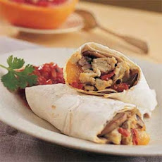 Egg, Mushroom, and Roasted Red-Pepper Burritos