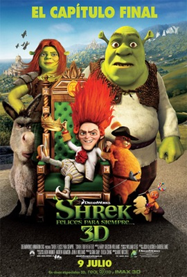 Poster Shrek felices para siempre