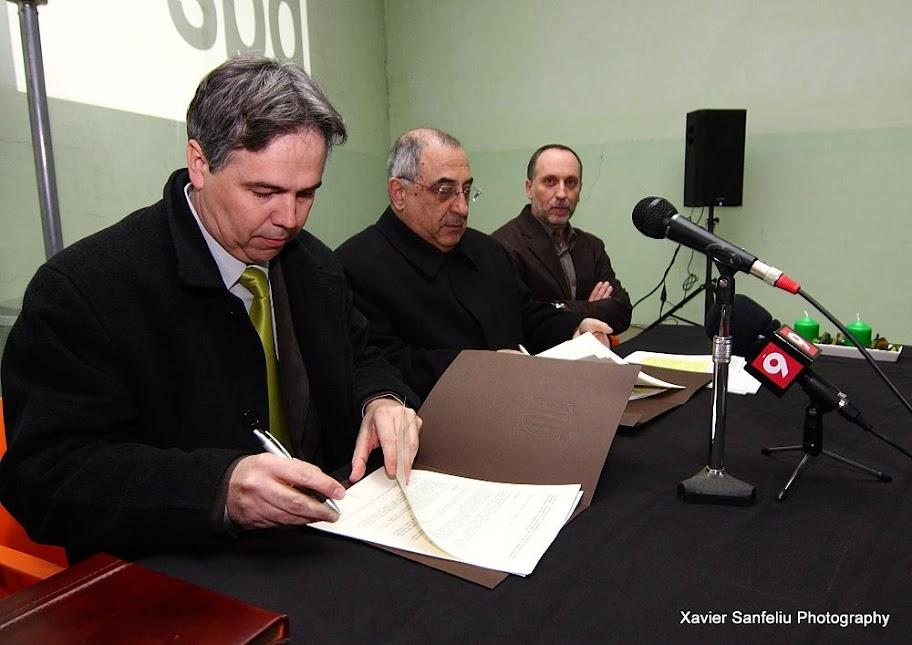 Signatura del conveni de col.laboració per al desenvolupament del Projecte d'Intervenció Integral: Casc antic