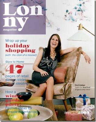 LONNY cover dec 2009