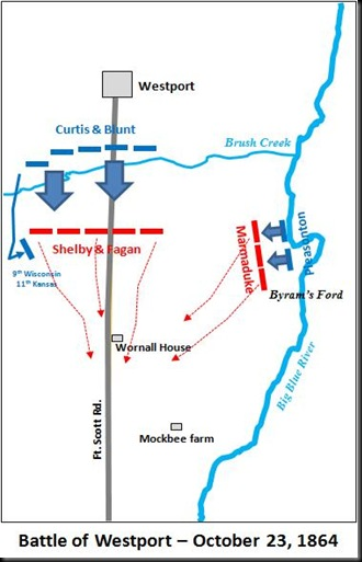 Battle of Westport-Map