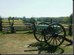 Confederate Guns on Seminary Ridge