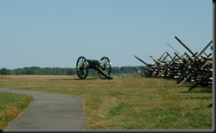 Gettysburg-Confederate Gun silently aimed at Cemetary Ridge