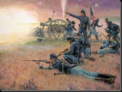 Union Cavalry Fighting Dismounted