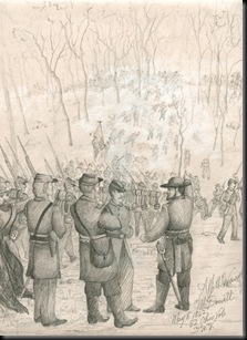 1862 sketch of the Battle of McDowell
