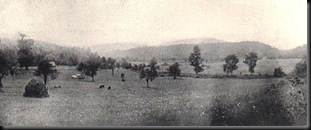 19th century photo of White Sulpher Springs battlefield