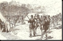 Early morning attack on Prentiss' camp