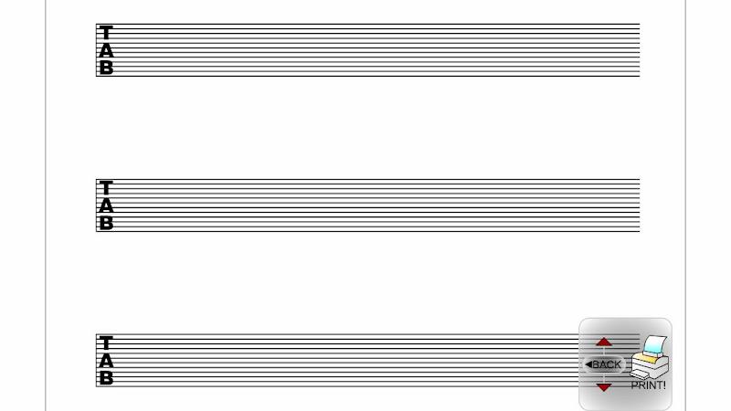 image regarding Printable Tablature Paper referred to as 8 String tab mcript/tab softwear