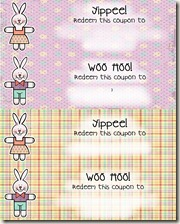 easter coupons blank