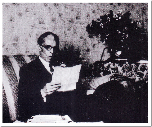 Quaid-e-Azam Concentrating on office work