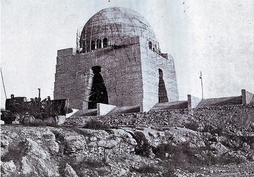 [The uncompleted Quaid-e-Azam's tomb in 1966[4].png]