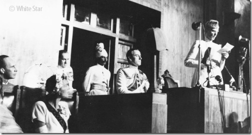 Quaid-e-Azam addressing the 1st constituent Assembly of Pakistan