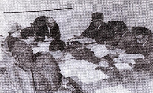 Quaid-e-Azam presiding over a medical relief committee meeting - 26 March 1948