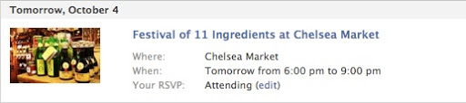 Festival of 11 Ingredients at Chelsea Market