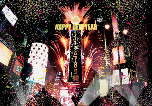 New York City Feelings Wishes You Happy New Year