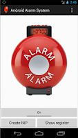 Screenshot of Alarm system
