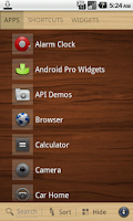 Screenshot of Wood theme for SquareHome