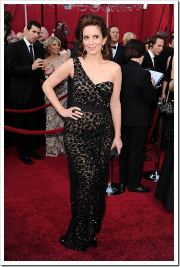 Actress Tina Fey arrives at the 82nd Annual Academy Awards held
