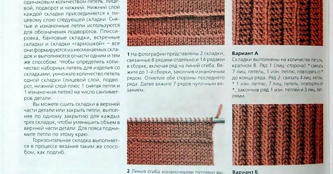Плиссе в вязании спицами 18