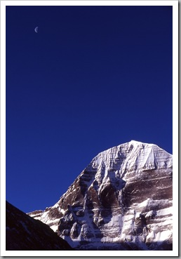 2005_Kailash_with_moon_Tibet