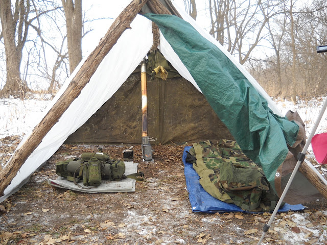 how to build a winter shelter