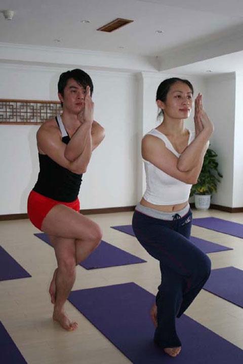 高温热瑜伽26式演示[组图] - 冬韵如歌 - 冬韵如歌