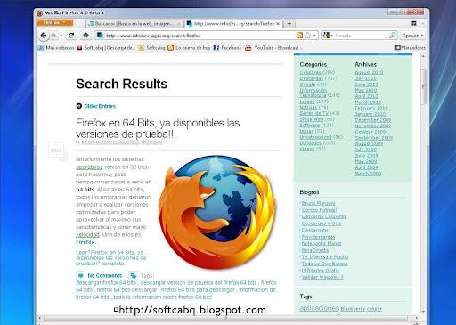 Mozilla Firefox 4b5 portable en español