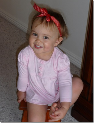 Hospital pics and pictures of Kylie with bow in hair 026