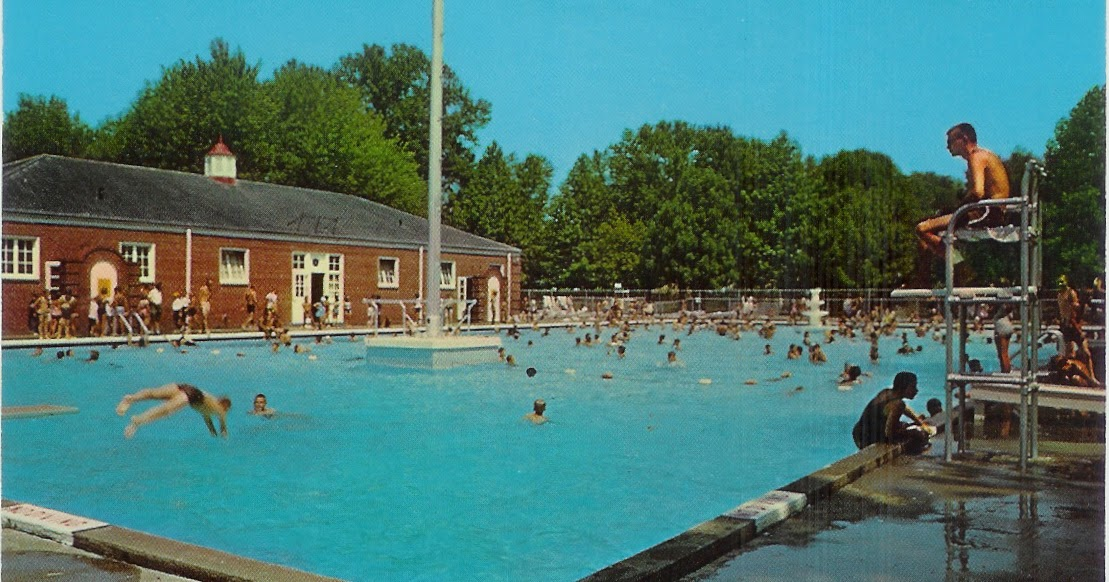 ERIE Pennsylvania postcard Erie County Swimming pool water