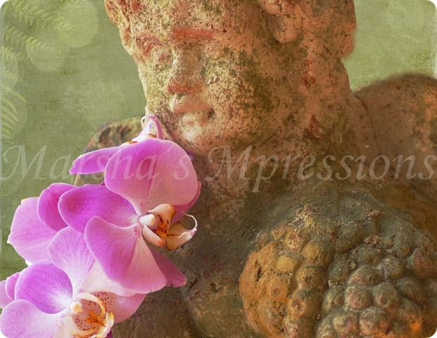 orchid with angel statue w watermark copy