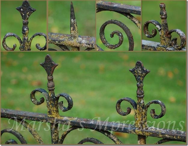 iron fence mosaic copyw watermark