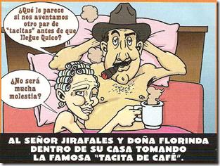 Florinda y el Profesor Jirafales en la cama