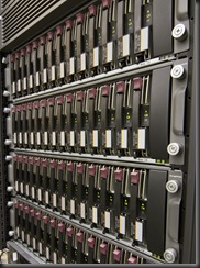 Row of hard drives