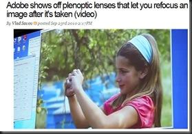 Plenoptic lens