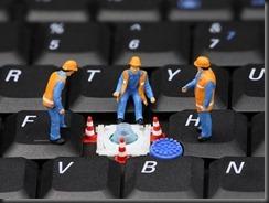 Work Crew on Computer