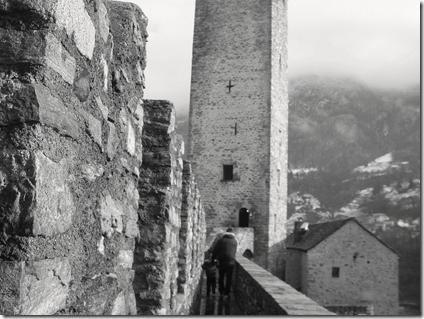 camminamento verso la torre di Castelgrande a Bellinzona