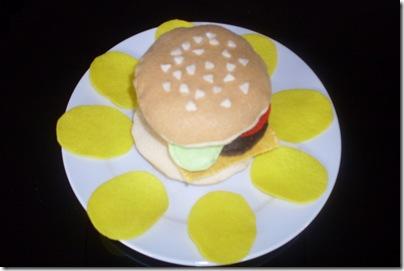 felt cheeseburger