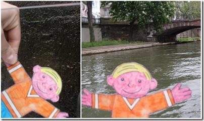 Stanley in barca suul canale di Strasburgo