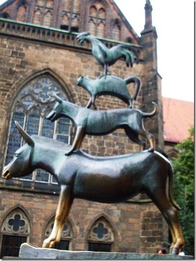 La statua dei muicanti a Brema