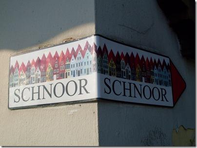 L'insegna che indica lo Schnoor a brema