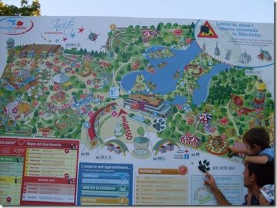 Mappa di Minitalia Leolandia Park