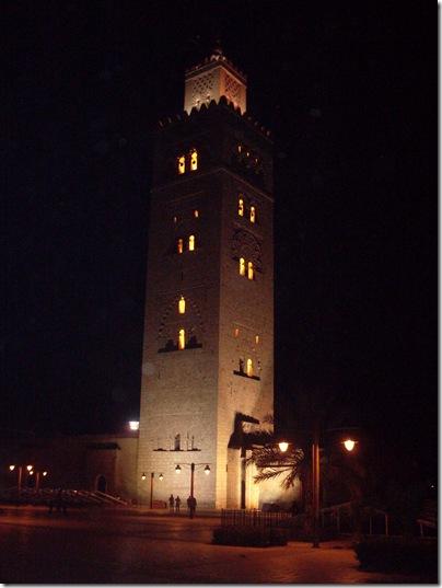 La Koutoubia di notte a Marrakech