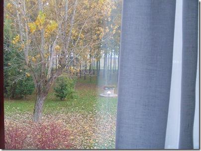 La vista dalla finestra della camera