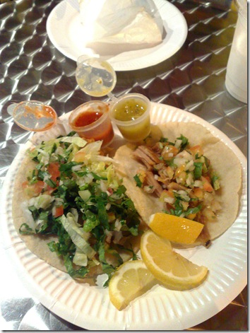 Grilled Fish and Al Pastor corn taco