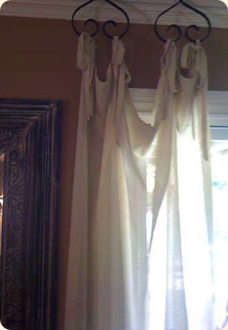 Custom valance below from calico corners is lined inside the pleats