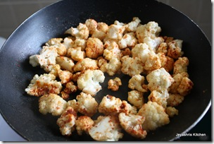 cauliflower before frying