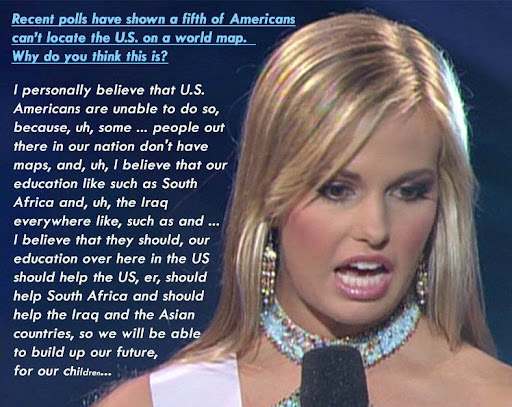 Miss Teen USA 2007 contestant talks about maps - schools - etc.
