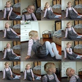 Posering dagen før dagen - Mina nesten fem år